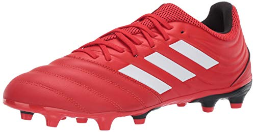 adidas Men's Copa 20.3 Firm Ground Boots Soccer Shoe, Active red/FTWR White/core Black, 12 M US