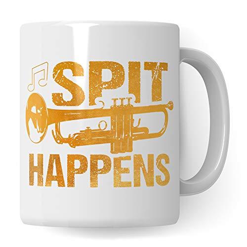 Pagma Druck Tasse Trompete, Trompeter Musiker Geschenke, Trompete Geschenkidee für Trompetenspieler, Instrument Musik Blechbläser Blasorchester, Deko Kaffeetasse