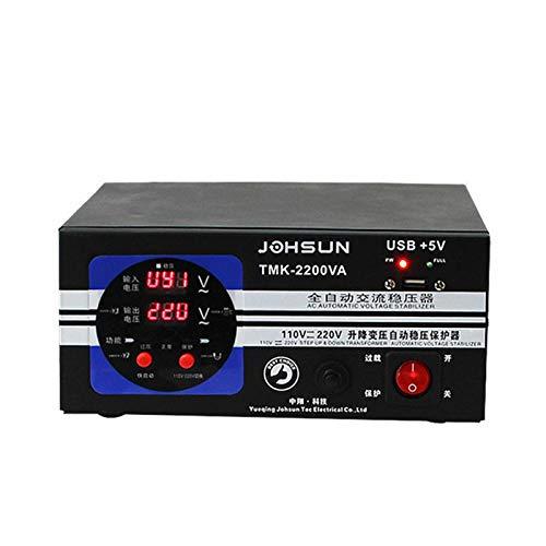 Estabilizador de Voltaje Automático de 220V Regulador de Potencia de CA Monofásico de 2000W Aire Acondicionado de Ordenador doméstico de Voltaje Ultra bajo