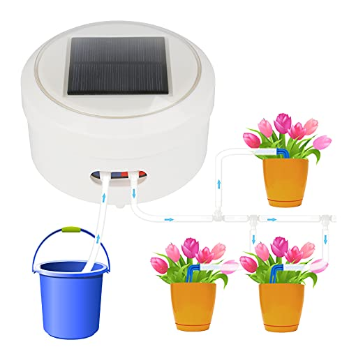Solar Automatic Watering System, Self Watering for Plants Indoor/Garden, Solar Irrigation System...