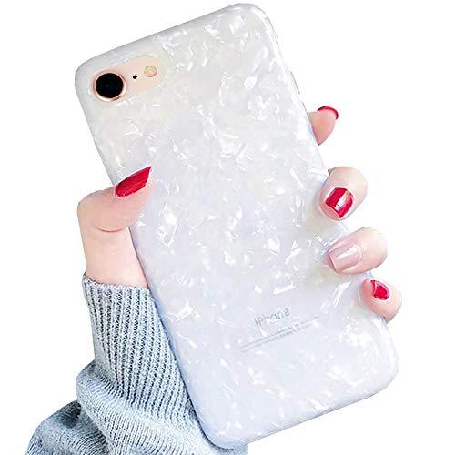 LLZ.COQUE Hülle für iPhone 7/8/SE 2020 Case Muschel Handyhülle Ultradünn Schutzhülle Abdeckung Flexible TPU Bumper Case für 7/8/SE 2020 Cover Anti Kratzer Weiß
