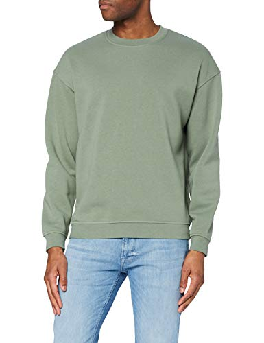 Jack & Jones JORBRINK Sweat Crew Neck Sudadera, Sea Spray/Fit: Cropped Box Fit, L para Hombre