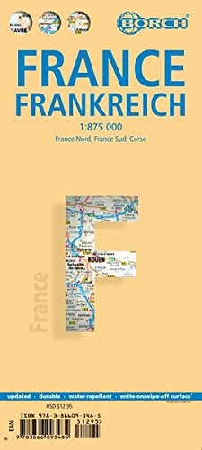 France, Frankreich, Borch Map: France North, France South, Corsica