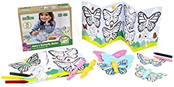 Green Toys Sesame Street Abby's Butterfly Maker Coloring Activity Set
