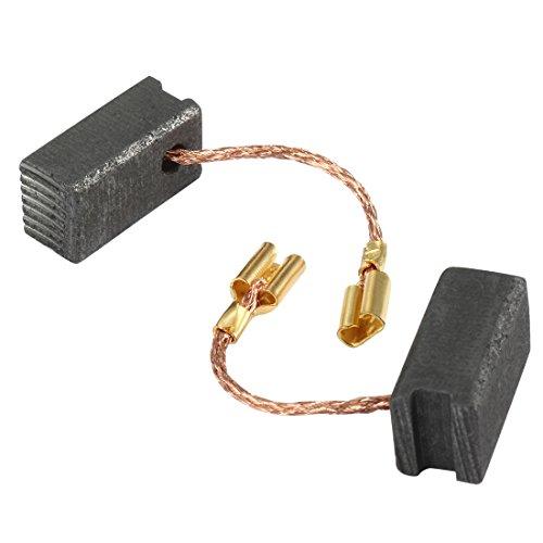 sourcingmap® Escobillas de carbón par parte de repuesto herramienta eléctrica de 7,5 mm x 6,5 mm x 14,5 mm