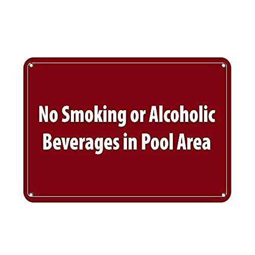 No Smoking in Pool Area Activity Sign Pool Blechschild Deko Schild Retro Poster Metall Vintage Türschilder Deko Schild Blech Kunst Schilder Hof Cafe Bar Geschenk 20X30cm