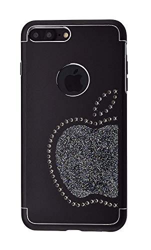 iShield® 8 Plus/7 Plus Light con Crystals from Swarovski Moderno Funda colección para iPhone 8 Plus/7 Plus Marca y Modelo 8 Plus Light Swarovski Elements (Black)