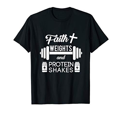 Faith Weights Christian Gym Weightlifting Workout Shirt