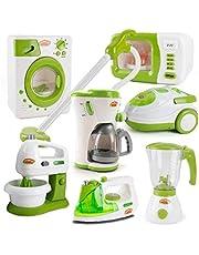 shentaotao 1PC niños Cafetera Juguete Mini Cocina de Juguete de estimulación eléctrica Cocinar Modelo Juego de imaginación Juguete aparatos de Cocina para niños pequeños