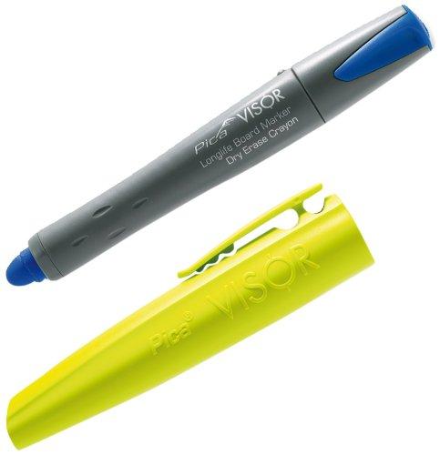 Pica Visor Longlife Whiteboard Marker, nachfüllbar mit Gel Crayon Hochleistungsmine, blau