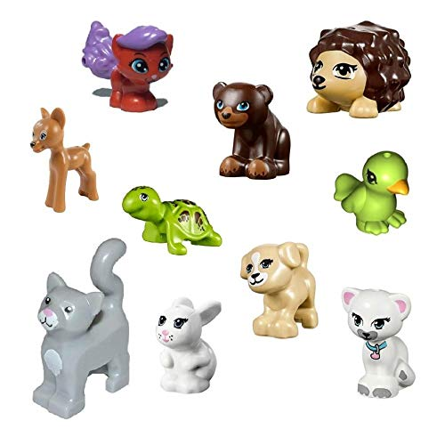 LEGO Lot of 10 Friends Animals Dogs,Cats, Turtle & More Small