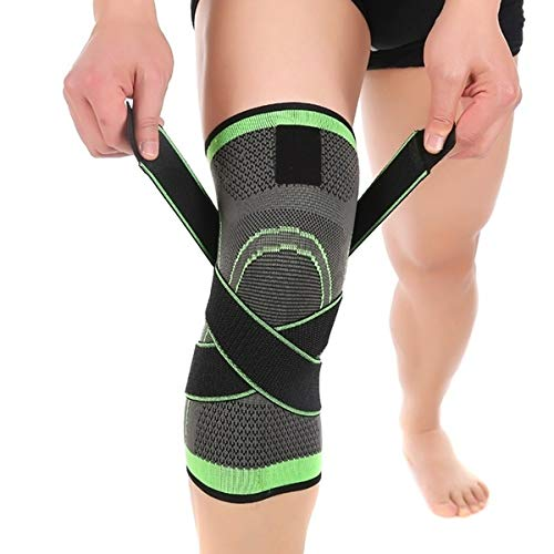 DreamPalace India Knee Wraps, Heavy Duty Elastic Compression Knee Support, Perfect for Squats, Powerlifting, Olympic Lifting and Crossfit - Pack of 1