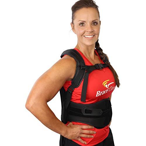 Rigid Posture Corrector Back Brace with Adjustable Back Straightener;...