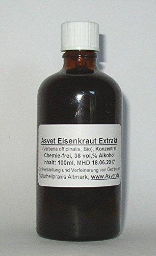 Asvet 100ml Eisenkraut Tropfen, Tinktur, Verbena officinalis Extrakt, Konzentrat