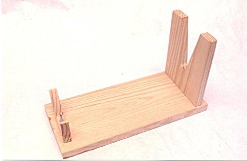 Nuevo DIY Ham-Soporte de uso fácil Serrano V forma práctica de madera titular de jamón español...
