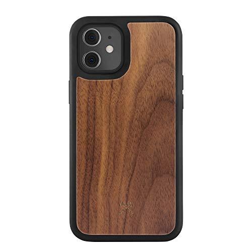 Woodcessories - Bumper Hülle kompatibel mit iPhone 12 Mini Hülle Holz Walnuss