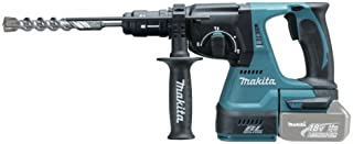 Makita dhr243zj perforateur-burineur Wireless for SDS-Plus 18 V in Makpac Battery and Charger not Included, Black, Blue