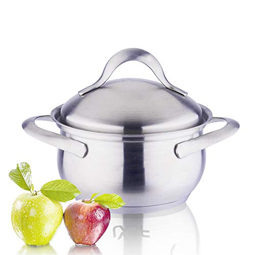 Soup, Stock, Stock Pots,Dishwasher Safe Nonstick Pot, Made of 304 Stainless Steel, Thicker,1.7quart