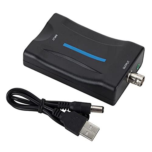 KKAAMYND El convertidor Puede convertir la señal Digital Compatible con HDMI a Bnc Adaptador convertidor de señal de Video Compuesto VHS Reproductor de DVD PAL Ntsc