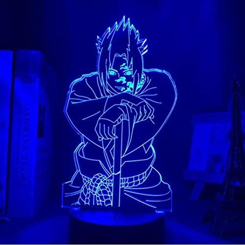Naruto Itachi Luz De Noche Ilusión 3D DIRIGIÓ Lámpara De Mesa para Dormitorio Decoración Mood Sleep Light Boys Fiesta Regalo De Cumpleaños para Juguetes para Niños para Adolescentes