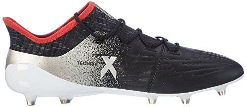 adidas Women's X 17.1 Fg W Soccer Shoe, Nero Core Black Platin Metallic Core Red, 9.5 UK