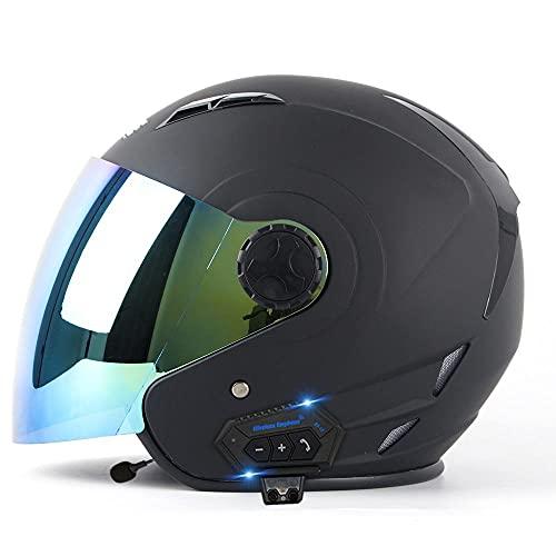 Tazyee Casco De Moto Jet Abierto Dot Homologado,Casco De Patinete Eléctrico,Casco Moto...