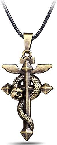ZPPYMXGZ Co.,ltd Necklace Fashion Anime Fullmetal Alchemist Bronze Metal Pendant Necklace Cross Snake Jewelry