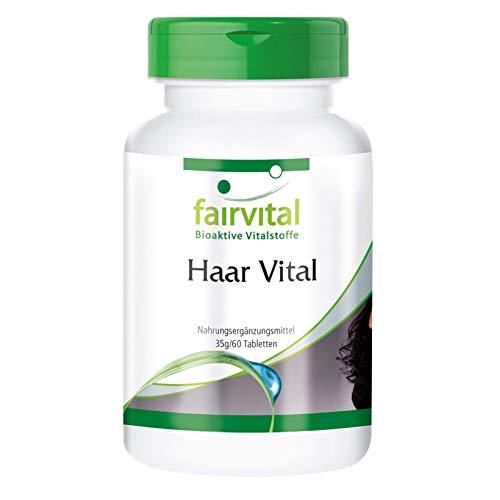 Vitamines voor het haar - Hair Vital - HOOG GEDOSEERD - 60 tabletten - met vitamines, sporenelementen, bier gist en sojaperteïne