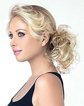 Swirlz Curly Wrap Color Dark Blonde - Revlon Hairpiece Overall Length 8  Elasticized Hair Wrap Ponytail Schrunchy Updo Synthetic Fun Bun Around Pedazo de cabello
