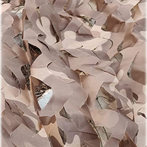 QYQS Toldo Vela, Netificación De Camuflaje, 210d Oxford Paño De Camuflaje, Sol Y Resistencia Al Envejecimiento, Camuflaje del Desierto(Size:6x8m/19.7x26.2ft,Color:Camuflaje del Desierto)