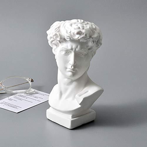 HEYFAIR Creative David Statue Pencil Holder Desk Organizer Accessories Art Decoration (David)