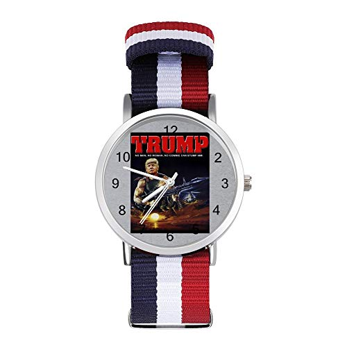 Donald Trump Rambo Muscle Man Freizeit-Armbanduhr, geflochtene Armbanduhr mit Skala