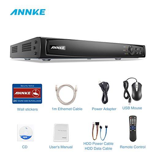 ANNKE POE NVR 16 Kanal 4K Netzwerk Video Rekorder, ONVIF 2.4 kompatibel, Aufzeichnungsgerät, 8MP Netzwerkrekorder für CCTV Sicherheit Überwachungssystem