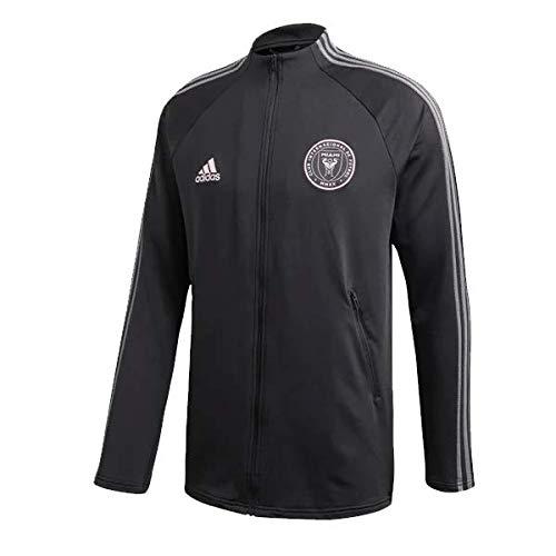adidas Men's 2020 Inter Miami CF Anthem Soccer Jacket (Black/Clear Pink) (2XL)