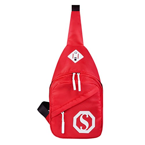 Multi-fonctionnel Sports de plein air Chest Sac Paquet / épaule Sling Bag, Rouge