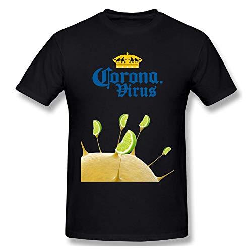 YDXH Il Covid-19 Coronavirus Invasione nel 2020 T-Shirt in Cotone Rotonda Uomo Collo Pullover T-Shirt,1,XL