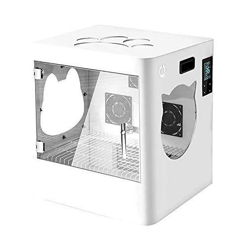 LHONG Caja De Secado De Mascotas Automático con Control Remoto Secado Silencioso Viento Envolvente 3D Adecuado para Muchas Mascotas Diferentes.
