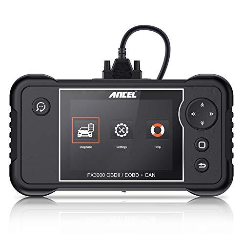 ANCEL FX3000 Lector de Código Escáner OBD2 Automóvil Herramienta de Diagnóstico Multimarca para la Transmisión Motor SRS (Airbag) ABS Reinicio para EPB SAS ABS Oil Service Grabación de la Batería