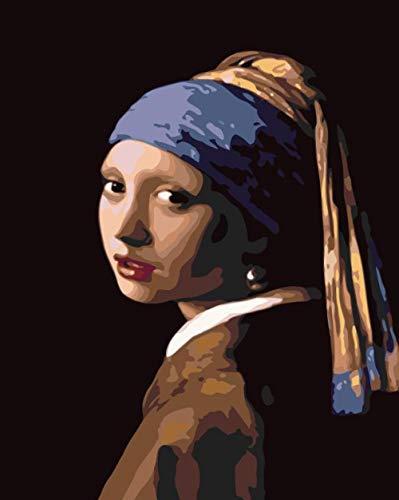 NSWSYDM DIY Digitale Malerei Set für Erwachsene Kinder Anfänger Malen Nach Zahlen Enthält Acrylfarben Leinwanddruck Art Kits Home Wandkunst Dekoration 40x50cm...
