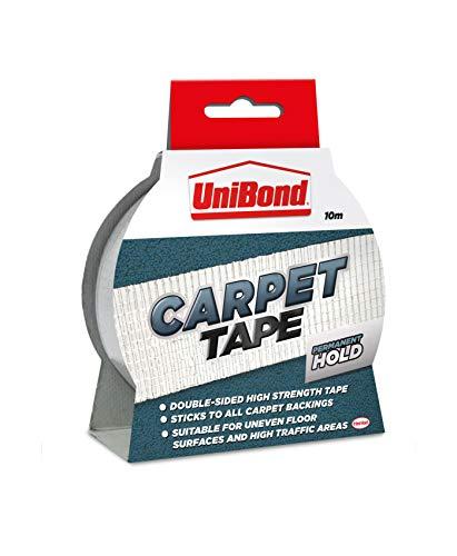 UniBond permanent tapijt tot vloertape hoge sterkte lijm - 50 mm x 10 m, duidelijk