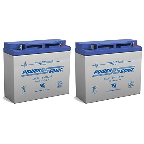 12V 18Ah Earthwise Electric Lawn Mower Battery Replaces 24V Battery - 2 Pack