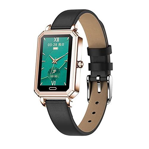 DZX HT2 Smart Watch Women IP68 IP68 Impermeable Monitor De Frecuencia Cardíaca Presión Arterial Pulsera Remota Pulsera Lady Smartwatch para Android iOS,A