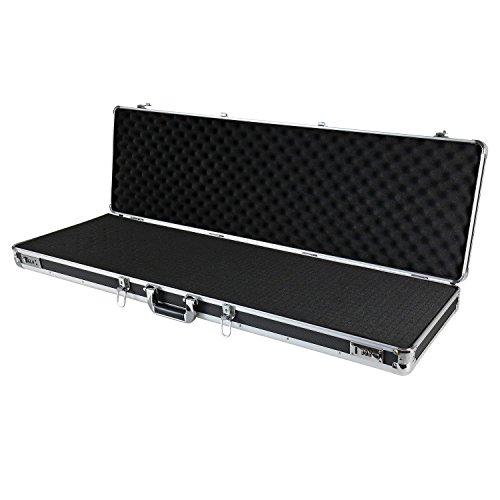 HMF 14405-02 Aluminium Wapenkoffer voor Geweren met Schuimrubber | 117 x 36 x 12 cm | Zwart