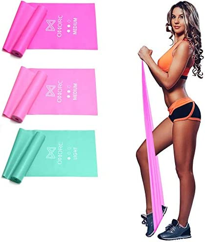 OMORC Resistance Bands Latex Elastic Bands with Door Anchor for Physical Therapy Home Gym Workout product image