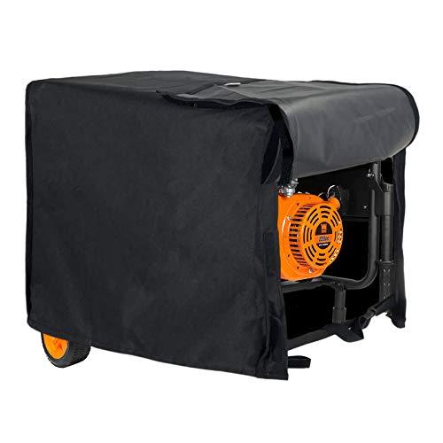 Generator Cover Waterproof, Heavy Duty Thicken 600D Polyester Weather/UV Resistant Generator Cover for Universal Portable Generators 7000-10000 Watt, Black (32''L x 24''W x24 H)