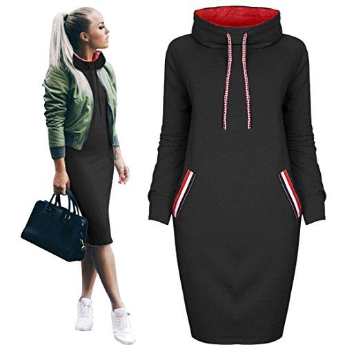 Sinwo Women Fashion Casual Autumn Winter Shirt Dress Ladies Long Sleeve Mini Dress Pullover Sweater