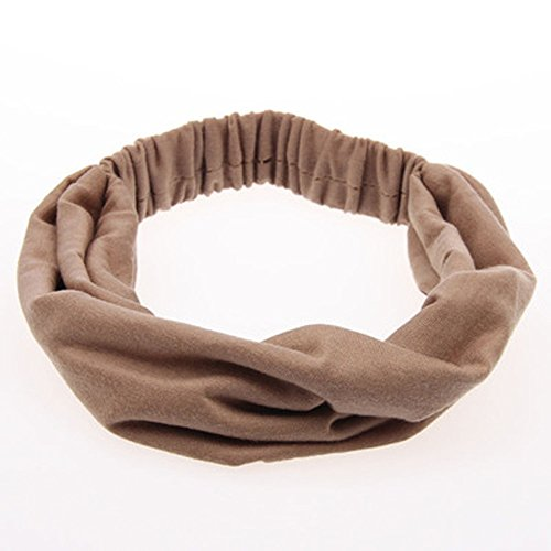 Black Friday limited deals Damen Haarband Boho Twist Stirnband Elastisch Wickeln Turban Haar Band Yoga Sport