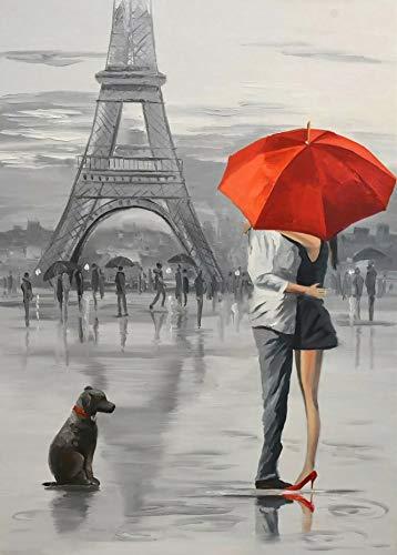 Puzzle De Madera Para Adultos 1000 Piezas Arte Diy Puzzle Pareja Bajo Paraguas Rojo En París Personaliza El Juego Para Adultos Juguetes Educativos Para Niños