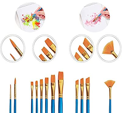 XDT 166 Bright Style Paint Brush Artist Painting Brushes Set 6 Piece Mixed Red Sable Weasel Hair #2#4#6#8#10#12, Canvas Painting Acrylic Paint Oil Paint Top Quality Extra Long Handle Brushes