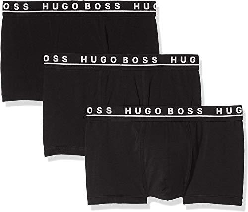 BOSS Herren Trunk 3P CO/EL Dreier-Pack Boxershorts aus Stretch-Baumwolle mit Logo am Bund